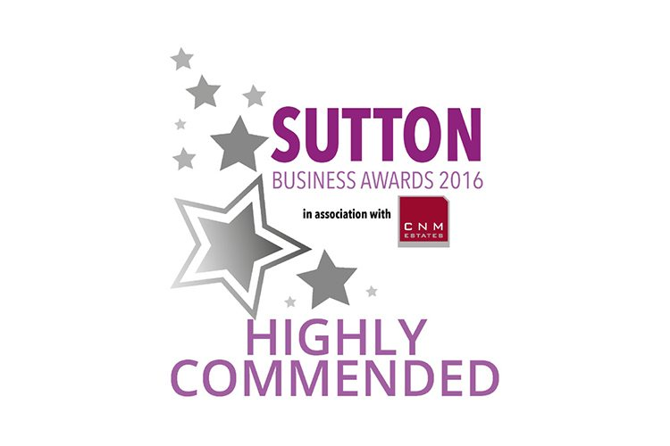 Sutton Business Awards 2016 - Highly Commended